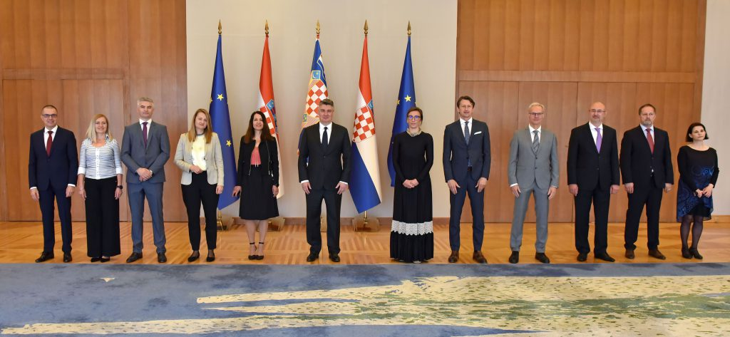 HR PSOR delegation at the reception with the President of the Republic